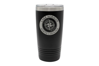 Custom Location with Latitude & Longitude in Circle Insulated Tumbler 20 oz