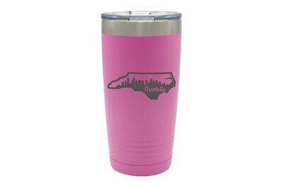 Custom State Shape with City Skyline Insulated Tumbler 20 0z