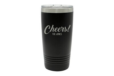 Custom Cheers w/Name Insulated Tumbler 20 oz