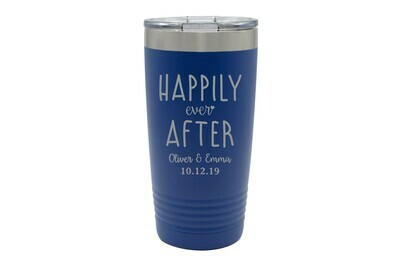 Custom Happily Ever After with Names & Date Insulated Tumbler 20 oz