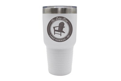 On Lake Time w/Chair & Customized Location Insulated Tumbler 30 oz