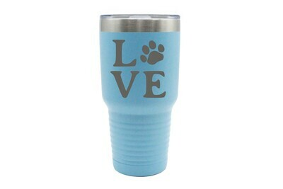 Love Customized with Dog or Cat Print Insulated Tumbler 30 oz