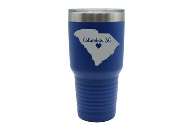 Custom State Shape - Heart Represents City Location Insulated Tumbler 30 oz