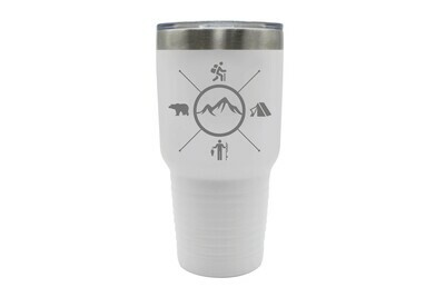 Mountains with 4 Outdoor Themes Insulated Tumbler 30 oz