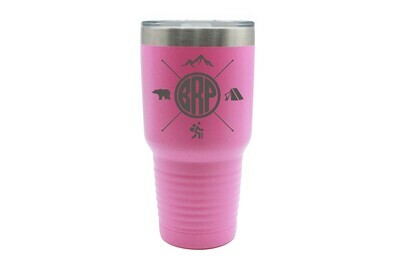 Recreation themes with Customized Location Abbreviation Insulated Tumbler 30 oz