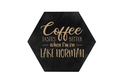 Coffee Tastes better with Customized Location HEX Hand-Painted Wood Coaster Set
