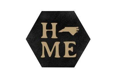 Home Customized w/State HEX Hand-Painted Wood Coaster Set
