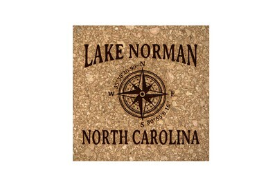 Custom Location w/Latitude Longitude Cork Coaster Set