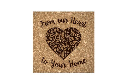 From our Heart to Your Home Cork Coaster Set