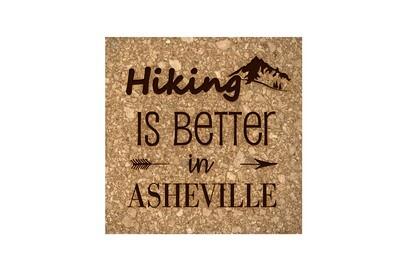 Mountain Hiking Customized with City/Location Cork Coaster Set