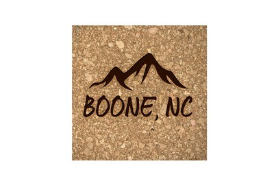 Mountains Customized with City & State Cork Coaster Set