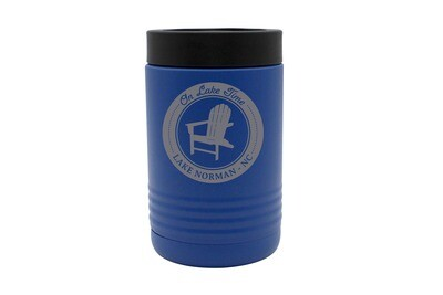 On Lake Time w/Chair & Customized Location Insulated Beverage Holder