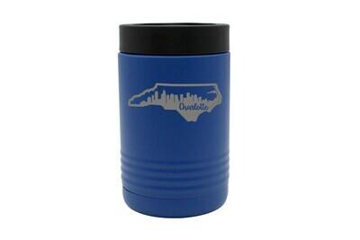 Custom State Shape with City Skyline Insulated Beverage Holder