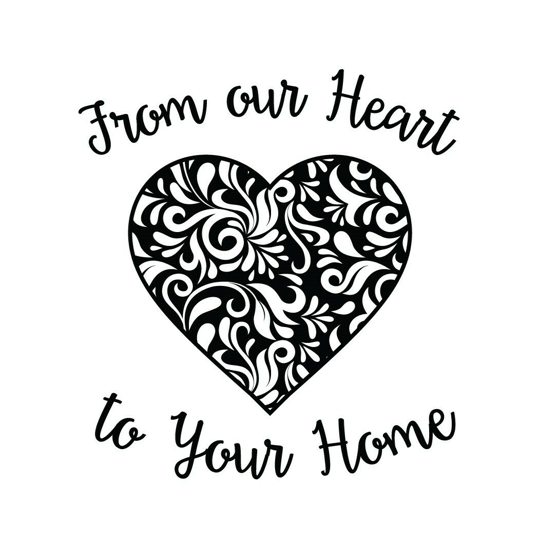From Our Heart to Your Home Wine Glass 19 oz