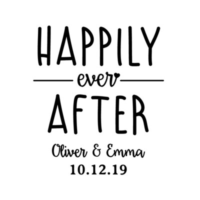 Custom Happily Ever After with Names & Date Insulated Beverage Holder
