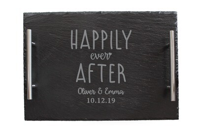 Custom Happily Ever After Slate Serving Tray