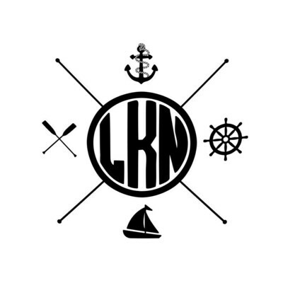 Nautical Themes Customized with Location Leatherette Coaster Set