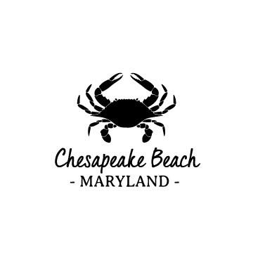 Crab & Customized Location Leatherette Coaster Set