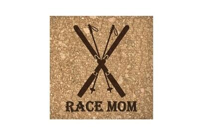 Race Mom Cork Coaster Set
