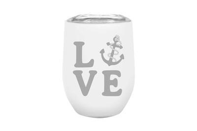 LOVE with Anchor Insulated Tumbler