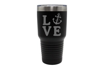 Love with Anchor Insulated Tumbler 30 oz