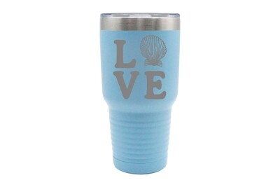 Love with Seashell Insulated Tumbler 30 oz