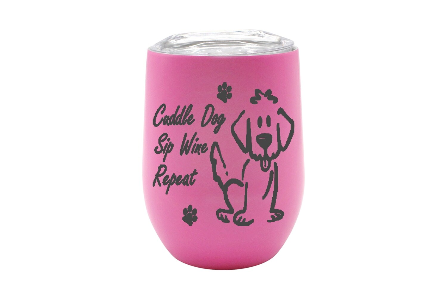 Cuddle Dog, Sip Wine, Repeat Saying Insulated Tumbler