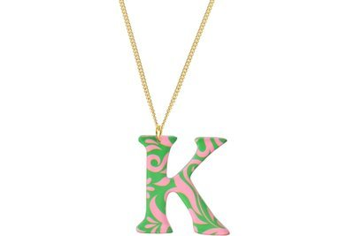 Sculpted Alphabet Pendant with Chain Necklace