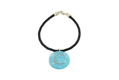Alphabet Charm with Decorative Braided Leather Cord Bracelet