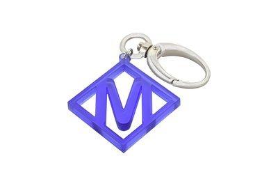 Diamond Initial Key Clip