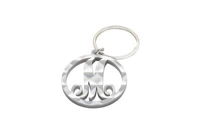 Scroll Initial Key Ring