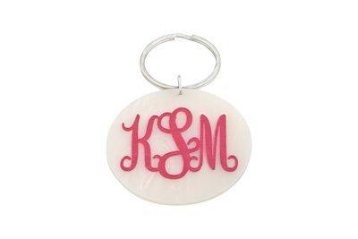 Traditional Monogram Key Ring