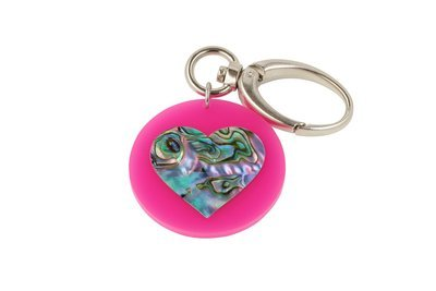 Mother of Pearl Heart Key Clip