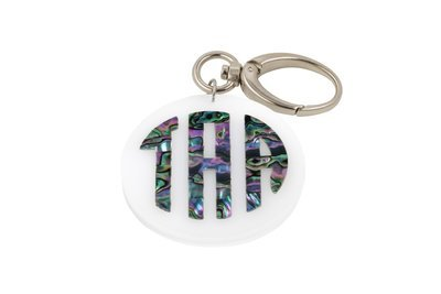 Mother of Pearl Monogram Key Clip