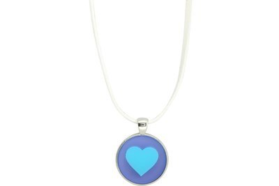 Heart Pendant Intricate Style on Suede Leather Cord Necklace