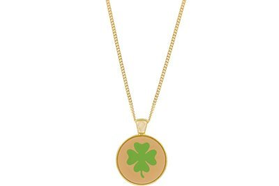 Clover Pendant Intricate Style on Chain Necklace