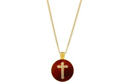Cross Pendant Intricate Style on Chain Necklace