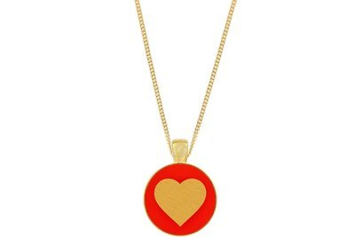 Heart Pendant Classic Style with Bezel on Chain Necklace