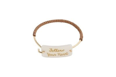Custom Name or Saying Plaque with Mixed Bangle Bracelet