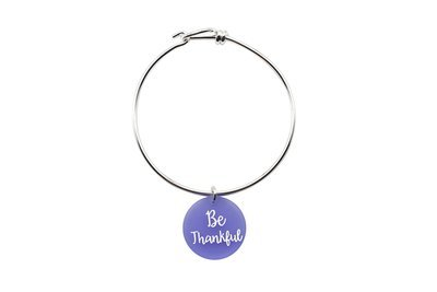 Custom Wording Charm with Decorative Wire Bracelet