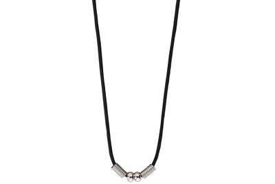 Black PVC Cord Necklace