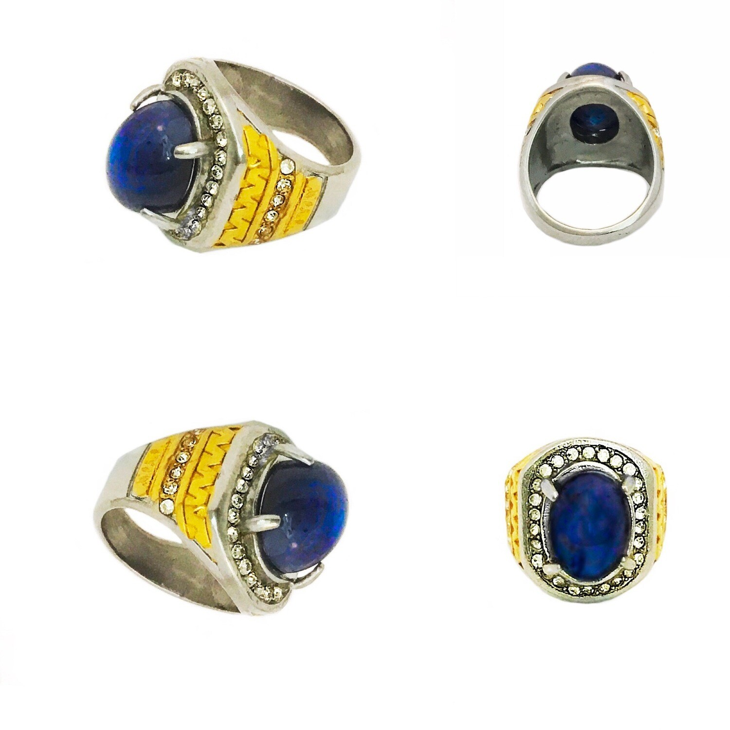 Powerful Lapis Lazuli ring enhancing personal insight and protection through aquatic and cosmic energy