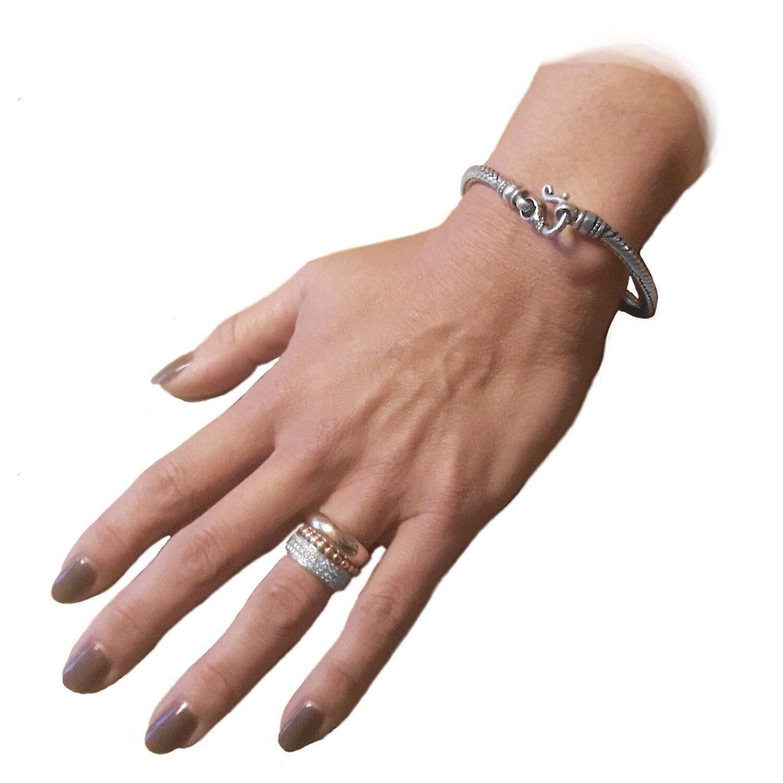 Balinese snake skin silver bracelet