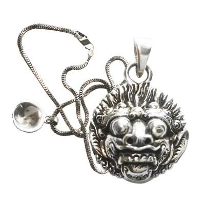 Balinese Barong Rangda Sterling Pendant Amulet