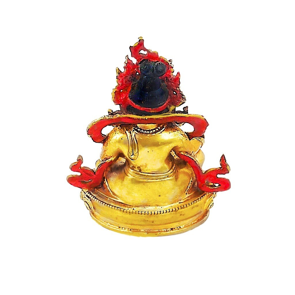 Kubera Varja Nepalese Bronze Amulet Statue for wealth
