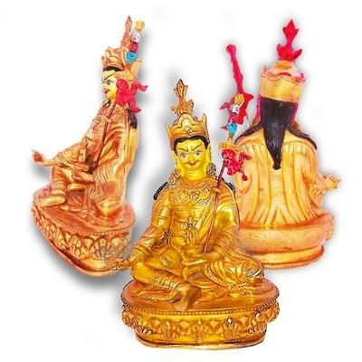 Guru Padmasambhava Nepalese Bronze Statue Amulet