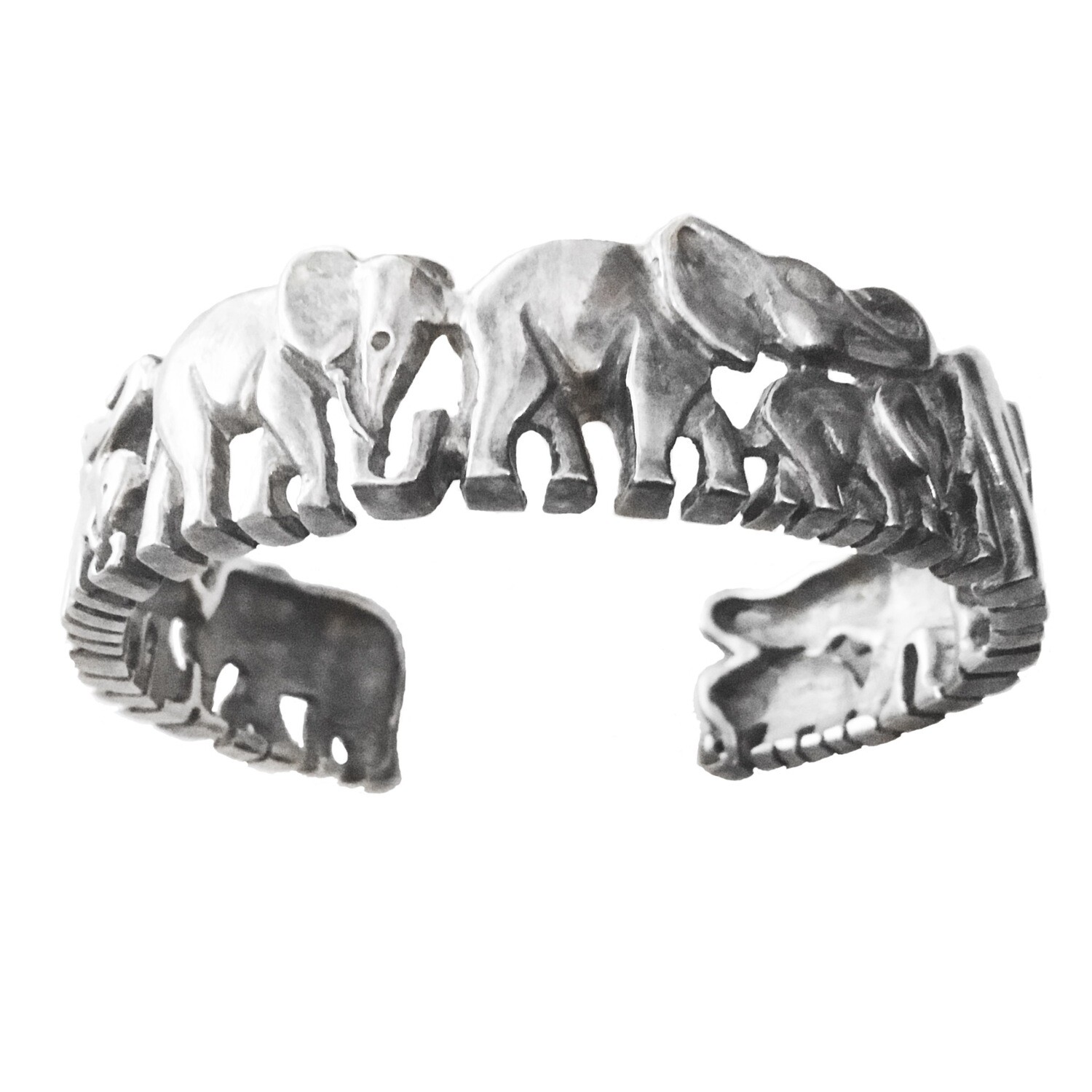 Balinese Sterling Elephant Cuff