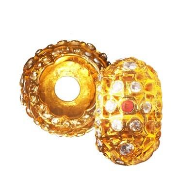 Gold Plated Selut Njeruk Pecel Amulet for Keris