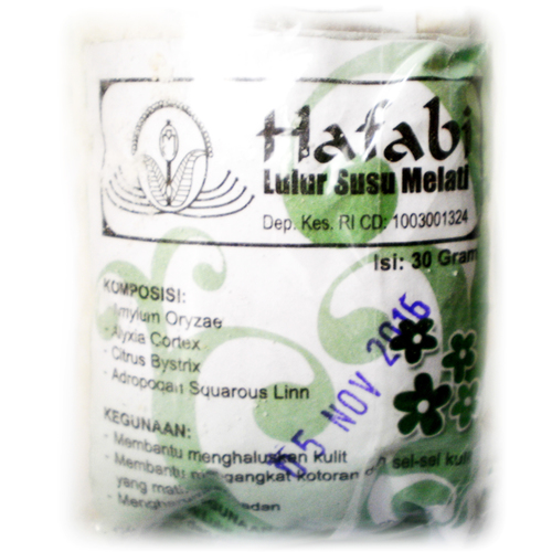 Traditional Indonesian Skin Whitening & Facial Scrub Cream made from White Jasmine Flower