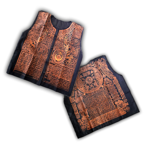 Sacred Muslim Shirt with Islamic Geometrical Designs and Arabic Spells made and blessed by the Renown Banten Masters